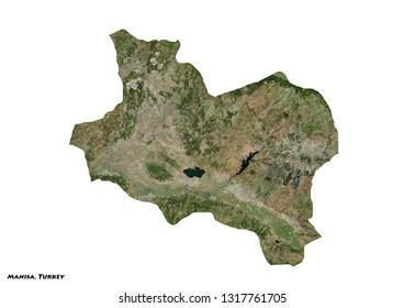 Manisa, Turkey Map (3D illustration)
