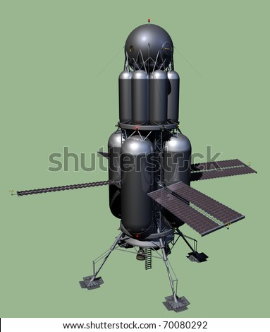 Manned Planetary Landing Spacecraft