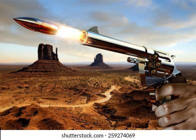 Man's Hand Firing Gun