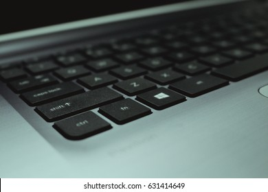 Mantewe, Indonesia - June 2016. This is a keyboard of HP Windows Laptop. HP is a one of the bigest technology corporation in Silicon Valley, US.