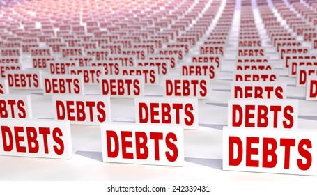 Many debts