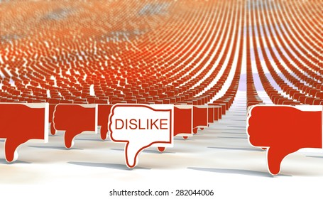 many dislike signs