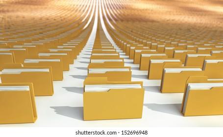 many folders. abstract. 3d