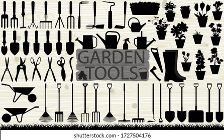 Many garden tools in the assembly