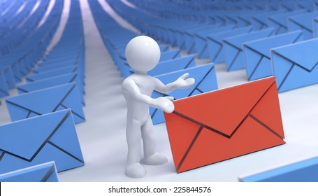 many mail and one different of color with 3d man