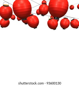 Many Red Paper Lantern