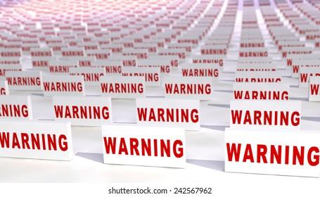 Many warning signs.