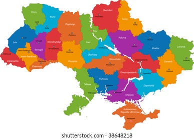 Map of administrative divisions of Ukraine