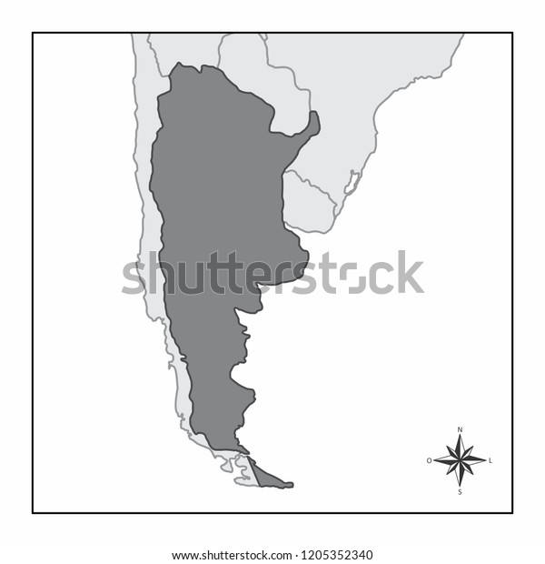 Map Argentina Location South America Stock Illustration ... on