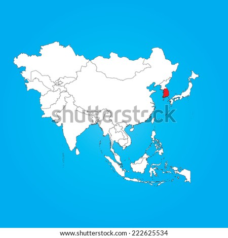 Royalty Free Stock Illustration Of Map Asia Selected Country South