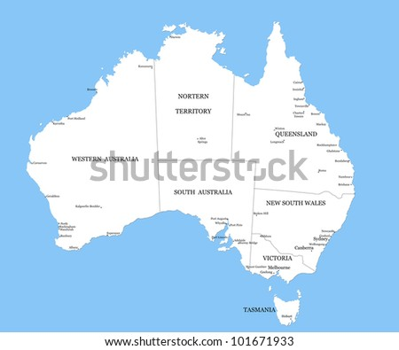 Map Of Victoria Australia With Cities.Map Australia Cities Stock Illustration Royalty Free Stock