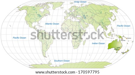 Map Australia Main Cities Green Stock Illustration - Royalty Free ...