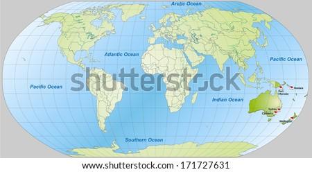 Map Australia Main Cities Green Stock Illustration 171727631 ...