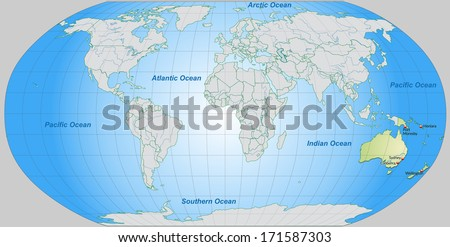 Map Australia Main Cities Pastel Green Stock Illustration - Royalty ...