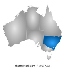 Map - Australia, New South Wales