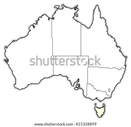 Map Australia Tasmania.Map Australia Tasmania Stock Illustration 415328899 Shutterstock