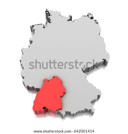 Map Baden Wurttemberg Germany Stock Illustration Royalty Free