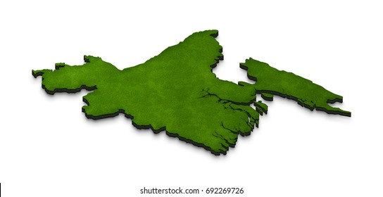 Map of Bangladesh. Illustration of a green ground map of Bangladesh on white isolated background. Right 3D isometric perspective projection.
