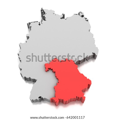 Royalty Free Stock Illustration Of Map Bavaria Germany Stock