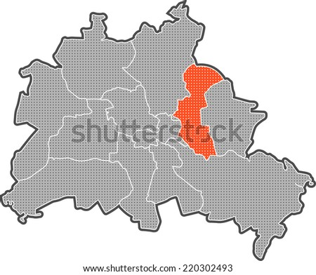 Map Berlin Districts Focus On District Stock Illustration 220302493 ...
