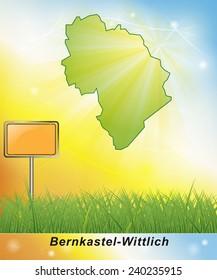 Map of Bernkastel-Wittlich