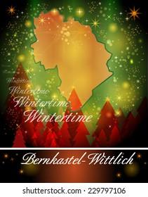 Map of Bernkastel-Wittlich in Christmas Design
