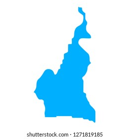 map of Cameroon. Silhouette of Cameroon map  illustration