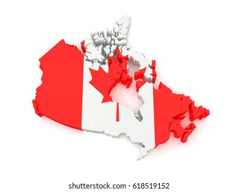 Map of Canada. 3D Illustration