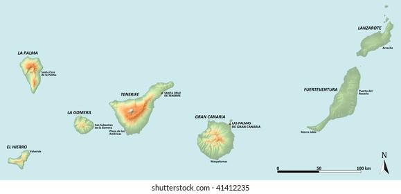 Mapa Mudo De Canarias.Imagenes Fotos De Stock Y Vectores Sobre Mapa Islas