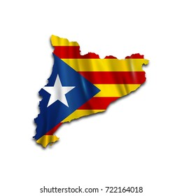Map of Catalonia. Independence of Catalonia. Barcelona. Illustration