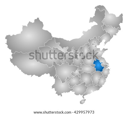 Map China Anhui Stock Illustration 429957973 Shutterstock