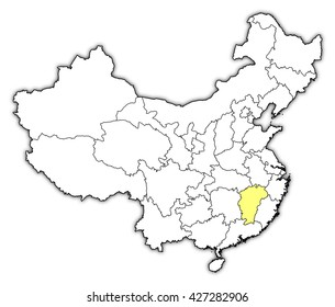 Map - China, Jiangxi