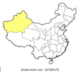 Map - China, Xinjiang