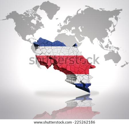 Map Costa Rica Costa Rican Flag Stockillustration 225262186 ...