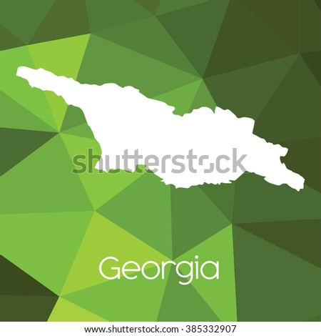 Map Country Georgia Stock Illustration 385332907 Shutterstock
