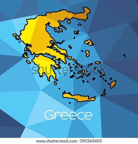 Country Of Greece Map.Map Country Greece Stock Illustration Royalty Free Stock