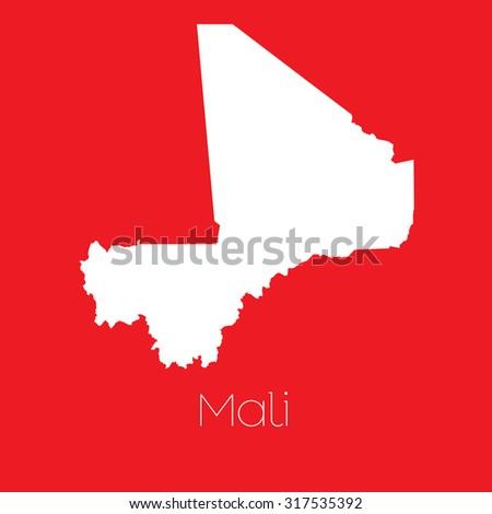Map Country Mali Stockillustration 317535392 – Shutterstock