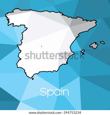 Country Of Spain Map.Map Country Spain Stock Illustration 394753234 Shutterstock