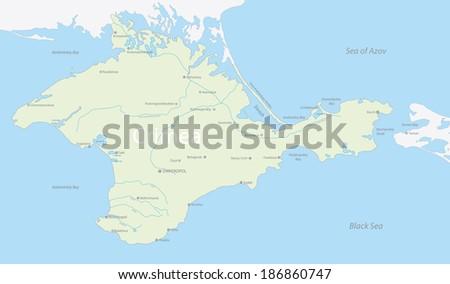 Map Crimea Russia | Royalty-Free Stock Image