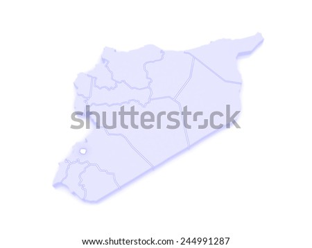 Map Damascus Syria 3 D Stock Illustration 244991287 Shutterstock