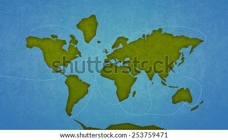 Map Earth Continents Oceans Digital Raster Stock Illustration ...