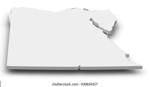Map - Egypt - 3D-Illustration