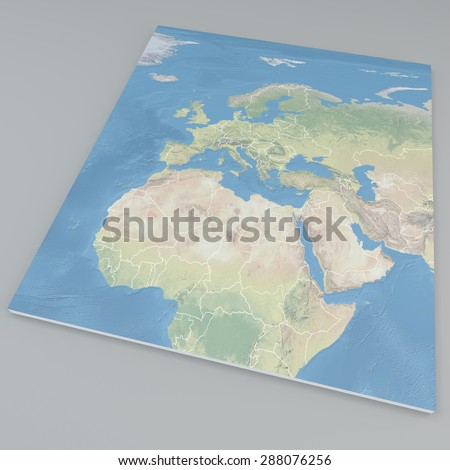 3d Map Of Africa Project.Royalty Free Stock Illustration Of Map Europe Africa 3 D Land