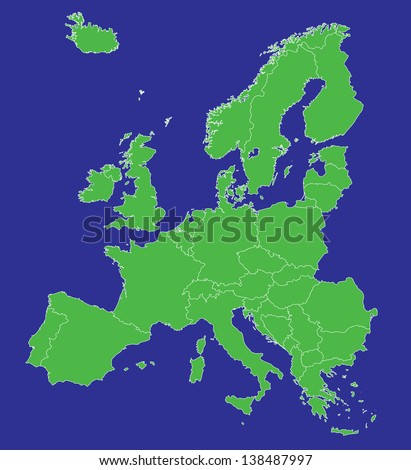 Royalty Free Stock Illustration of Map Europe EU Country Borders ...