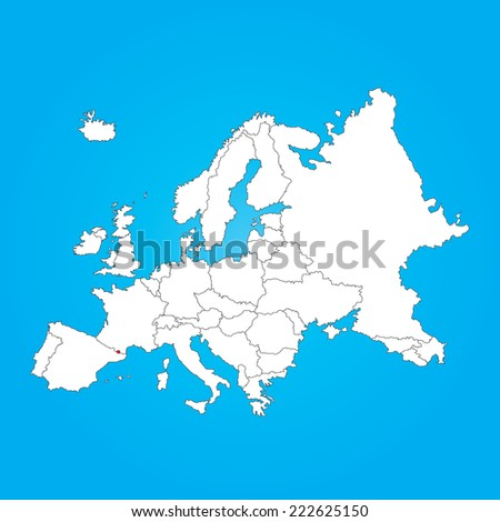 Royalty Free Stock Illustration Of Map Europe Selected Country