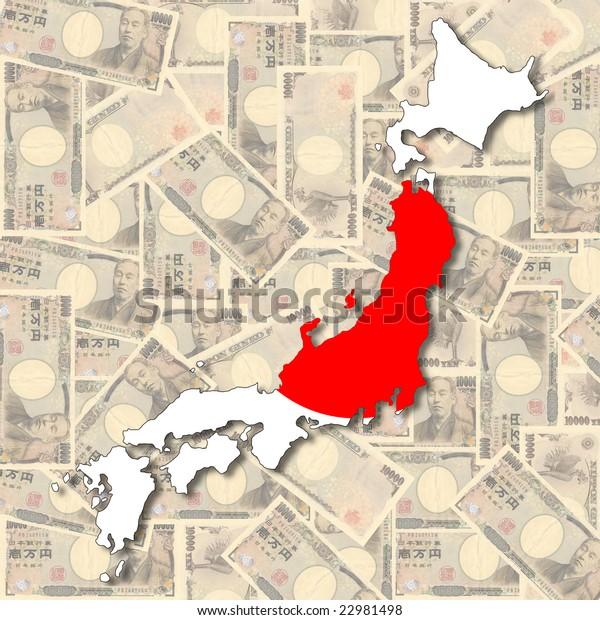 Map Flag Japan Collage Yen Notes Stock Illustration 22981498