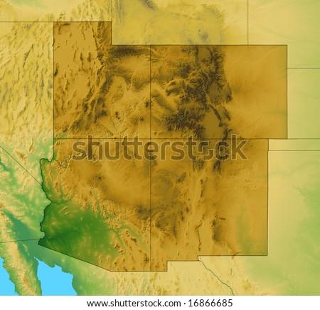 Royalty Free Stock Illustration of Map Four Corner States Utah ...