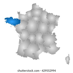 Map - France, Brittany