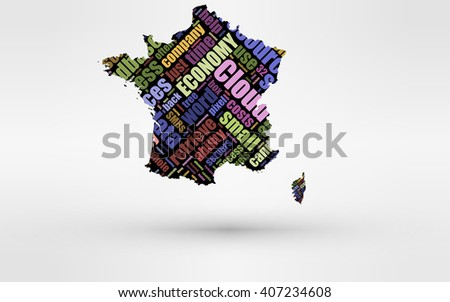 Map Of France And Corsica.Map France Corsica Theme Economy Global Stock Illustration 407234608