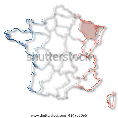 Map France Lorraine Stock Illustration Royalty Free Stock